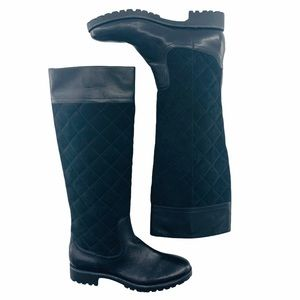 Sperry Black Quilted Leather Tall Boots   6